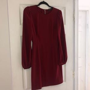 Zara - Maroon Long sleeve dress